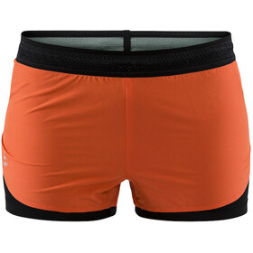 Craft Nanoweight Løpeshorts Dame Orange/Svart